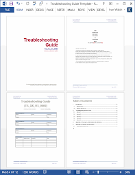 Sample User Manual Template Mesmerizing Troubleshooting Guide Template MS Word Templates Forms