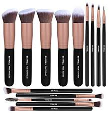 amazon bs mall makeup brushes premium synthetic foundation powder concealers eye shadows makeup 14 pcs brush set rose golden 1 count beauty