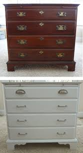wood painted refinished chest of drawers before after refinishing