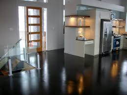 Cement Floors In Kitchen Homes With Stained Concrete Stained Concrete Patios Homes With