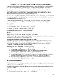 value statement examples for resumes accomplishments examples resume template selected skills and
