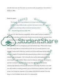 essay my life self reflective essay tittle page is the journey of my life