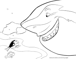 Bruce Finding Nemo Coloring Pages Disney Movies List