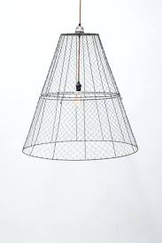 kalalou en wire large basket pendant with black fabric cord raw en wire basket chandelier en wire chandelier en wire drum chandelier
