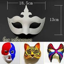 set of 10 white eye mask painting mask diy paper mask mask 1