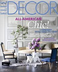 Small Picture ELLE Decor JulyAugust 2010 issue reveals All American Chic