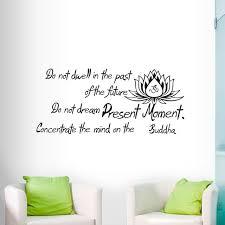 Tun Nicht Dwell In Die Vergangenheit Wand Aufkleber Buddha Sprüche