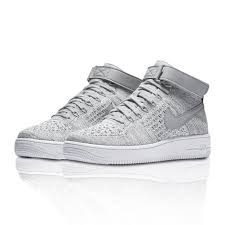 nike shoes air force white. nike air force 1 ultra flyknit mid kids trainers grey/white y50a7201 - junior shoes white a
