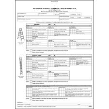 Inspection Form Periodic Portable Ladder Inspection Form Snap Out Format Stock