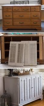 old furniture makeover. Old Dresser Makeover With Shutters Furniture S