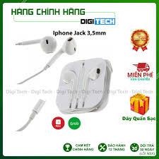 Tai nghe IPhone Jack Tròn 3,5mm Chính Hãng IP5/ IP6 Bảo Hành 12 Tháng ( Quà  Tặng Dây Quấn Tai Nghe) tốt giá rẻ