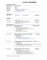 Resume How To Make Good Cv Example Toreto Co Sample Examples Of