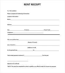 Rent Payment Receipt Rental Payment Receipt Template Business