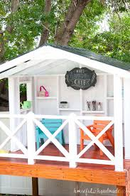 turn your tiny backyard into an adventure with this diy wooden outdoor playhouse the entire
