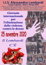 Giornata internazionale per l'eliminazione della violenza contro le donne  2020