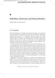 federalism democracy and democratization pdf available