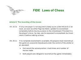 Fide Laws Of Chess For Arbiter's Seminar. Fide Laws Of Chess Preface ...