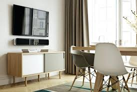 sliding door tv cabinet modern cabinet in oak with white matte and grey matte finish sliding