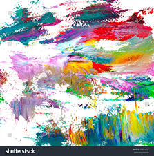 beautiful abstract hand drawn acrylic painting on canvas with brush strokes colorful splashing in the