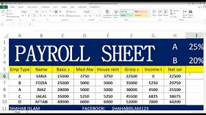How To Make Payroll Ms Excel In Hindi