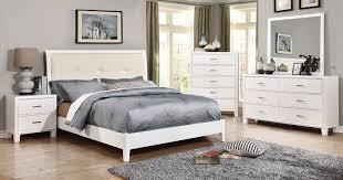 Furniture of America CM7068WH-Q-SET Enrico I White Bedrooom Bed