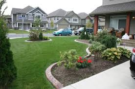 ... Landscape Design Gorgeous Exterior Front Yard Exterior Design With  Gardens And Green Grass With ...