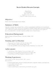 New Nursing Graduate Resume Graduate Nursing Resume New Nurse Rn Objective Grad Example No Expe