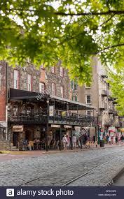 Usa Georgia Ga Historic Savannah West River Street