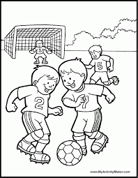 Small Picture Kids Play Soccer Coloring Pages For Kids Coloring Home