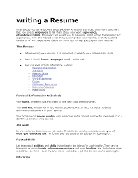 Information To Include On A Resumes Under Fontanacountryinn Com