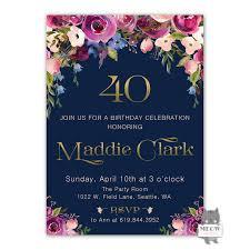 50th Birthday Invitations Templates Ideas Premium Design Of 40th Birthday Invitations
