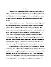 essay conclusion to the lottery  shirley jacksons the lottery conclusion essays and papers