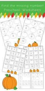 Preschool Number Worksheets - Find the Missing Number *Fall ...
