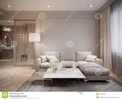 Modern Light Gray Living Room Modern Beige Gray Living Room Interior Design Stock
