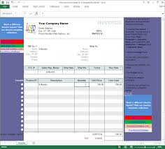 Invoice Template Excel 2003 Download Excel Invoice Template 1 6
