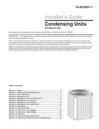 Trane Xb13 Air Conditioner Installation Manual Manualzz Com