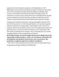 sample essay on george washington 2 towards