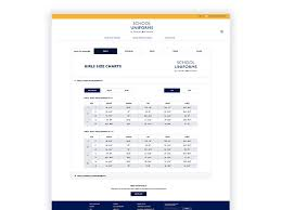 Tommy Hilfiger Size Chart Us Tommy Hilfiger Sizing Chart Page By Kevin Beaudry On Dribbble