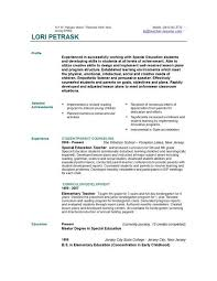 Teacher Resume Headings A Good Resume Example