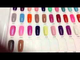 Ibd Colour Chart Ibd Gel Polish Color Chart Gel Polish Color