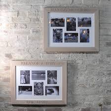 personalised whitewash oak collage photo frame
