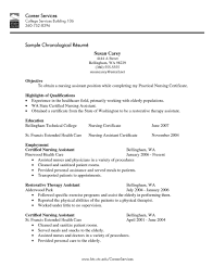 Sample Resume For Nursing Assistant Job Resume Examples