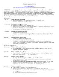 Science Teacher Resume Objective Sample Teaching Resume Objectives
