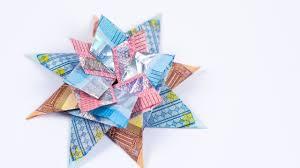 Geldscheine Falten Stern Geldgeschenk Zu Weihnachten