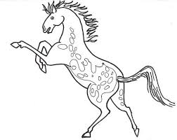 Small Picture Appaloosa Horse Coloring Pages Animal Coloring pages of