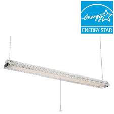 Commercial Electric Steel Plate 2 Lamp Hanging Fluorescent