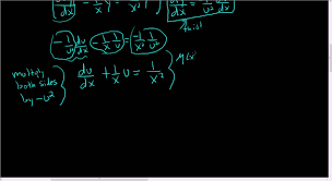 solving the bernoulli diffeial equation x 2 dy dx y 2 xy