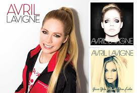 avril lavigne smiles with a red and black special olympics jacket