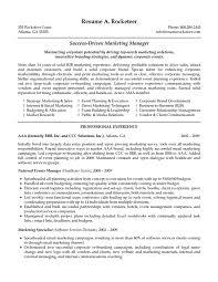 Resume Sample Marketing Manager Gallery Creawizard Com