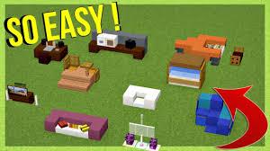 10 EASY Furniture IDEAS Minecraft